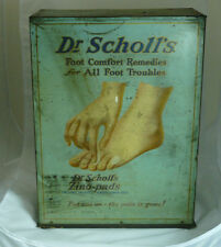Antique Dr. Scholl's General Store Tin Cabinet Advertising Display