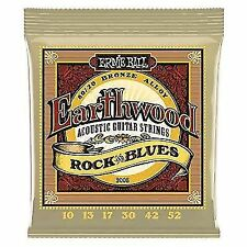 Ernie Ball 2008 Earthwood Acoustic Guitar Strings Rock and Blues x 6 Sets
