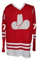 Any Name Number Size Calgary Cowboys Custom Retro Hockey Jersey Red