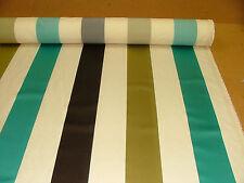 Ashley Wilde Aqua Karok Stripe Jacquard Fabric