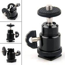 "1/4"" Mini Ball Head Screw Tripod Mount Stand Holder Camera Hot Shoe Adapter"