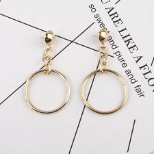 Vintage Women Gold Long Tassel Geometric Ear Stud Drop Dangle Earrings Jewelry