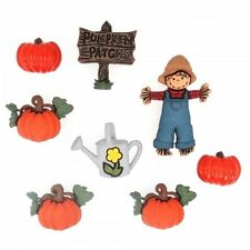 Jesse James Dress It Up Buttons Pumpkin Patch #3256 Sewing Crafts