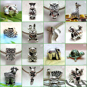 'CREATURES GREAT & SMALL'-1 X Varied choice of Animal/Fish/Bird European Charms