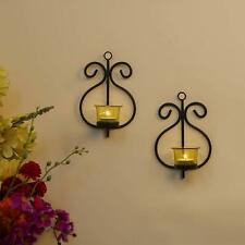 Decoration Candle Holder Tealight Wall Mounted Wall Hooks Set of 2 Free Shipping