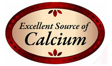 """1.25"""" X 2"""" Excellent Source of Calcium Labels 500 Per Roll Great Stickers"""