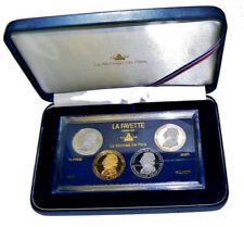 FRANCE fr 4 X 100 Frs 1987 Francs Coffret LAFAYETTE OR PLATINE PALLADIUM AG (BE)