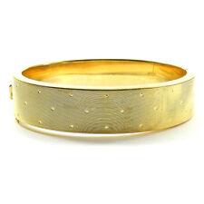Breiter 585 Gold Armreif sportlich elegant Vintage um 1960 14K Gold Bangle 52,6g