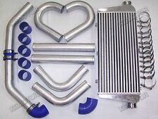 "FMIC 600x300x76mm Intercooler + 63MM 2.5"" ALUMINIUM PIPING + SILICONE HOSE Kit"