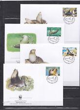 Tristan Da Cunha 2004 - FDC - Zeehonden / Seals (WWF / WNF)