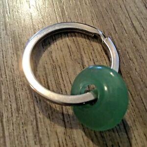 New Donut Shaped Green Aventurine Natural Stone Keyring Fob Hippy Gift Q72