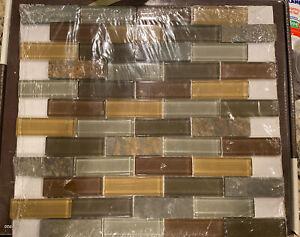 Jeffrey Court Glass Mosaics Smokey Slate 12x12 Wall Tile Sheets Back splash