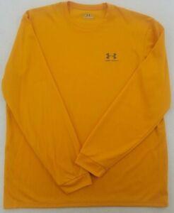 Under Armour VPAR261 Men's L Long Sleeve Golden Yellow Shirt Activewear Sports