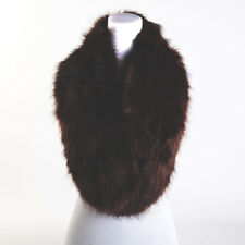 luxury Ladies Fashion Faux Fur Collar Scarf Fluffy Winter Shawl Wrap Stole