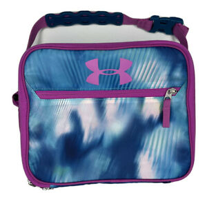 Under Armour Lunch Box Purple Blue Insulated Crush Resistant