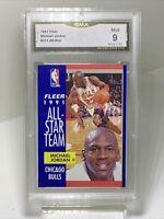GMA Mint 9: 1991 Michael Jordan, Fleer All-Star #211, Bulls