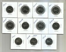 Canada - 25 Cents - 1977 to 2015 - UNC Coins from RCM Sets - $3.00 each