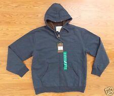 NWT Mens Weatherproof Navy Sherpa Hoodie Zip Up Sweater Jacket Coat XL XLarge