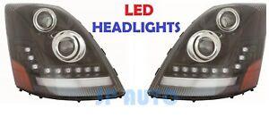 VOLVO VNL VNM VNX 300 430 2004-2015 LED DRL HEADLIGHTS HEAD LAMPS LIGHTS