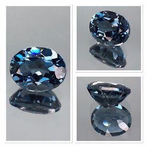 Exceptional Top Grade London Blue Topaz 3.60 Carat Oval Cut Gemstone FL Clairty