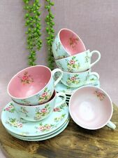 Robert Gordon Liberty Teacup & Saucer Set (13) Flowers Floral Country Farmhouse