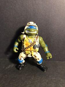 Vintage Playmates Toys TMNT Action Figure 1991 Mutant Military Lieutenant Leo