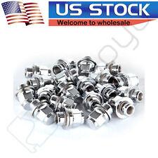 "20PC OE 1.18"" Mag Style Chrome Lug Nuts w/ Washer 12x1.5 For Toyota Lexus Wheels"