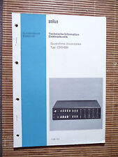 Service Manual für Braun CSQ 1020   ,ORIGINAL
