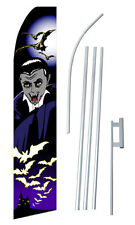 Vampire Banner Flag Sign Display Complete Kit Tall Business Advertising 2.5 Bats