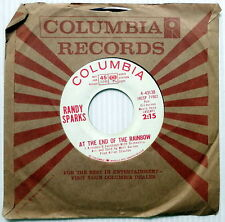 RANDY SPARKS At The End Of The Rainbow / Julie Knows 45 Pop PROMO Columbia #334