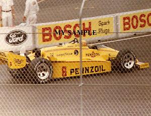 RICK MEARS 1984 MEADOWLANDS INAUGURAL INDY CART GRAND PRIX CAR RACE 8 x 10 PHOTO