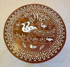 Diseño de la familia de pavo real con incrustaciones de India Mesa de Palo De Rosa