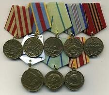 """8 RARE SOVIET RUSSIAN MEDALS """"FOR  MOSCOW,BERLIN,JAPAN,NAKHIMOV,CAUCASUS"""" COPY."""