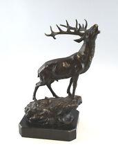 Bronze-Skulptur Pierre-Jules Mene Skulptur Röhrender Hirsch 9937065-dss