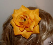 "LARGE YELLOW ROSE ""ROCKABILLY STYLE"" HAIR SLIDE"