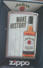 EDEL  ZIPPO  JIM BEAM  Bottle  Make History  CHROM  bunt  NEU