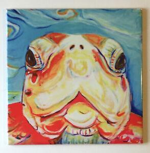 Sea Turtle Ceramic Art Tile Bahamas Caribbean 6x6