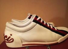 GUCCI MEN'S SNEAKERS 157499 SHOES LEATHER VINTAGE RARE MADE IN ITALY SZ. US 9
