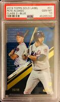 "PSA 10/ GEM-MT! 2019 Gold Label PETE ALONSO ""Class 2/ BLUE"" SP Rookie #31  METS"