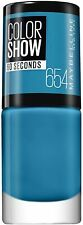 Gemey Maybelline Nail Polish Colour Show No. 254 Superpower Blue
