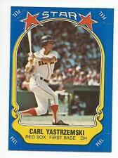 "CARL ""YAZ"" YASTRZEMSKI 1981 Fleer Sticker Baseball card #13 Boston Red Sox NR MT"