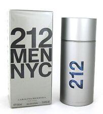 212 MEN NYC by Carolina Herrera 3.4 oz. Eau de Toilette Spray. New. Sealed Box.