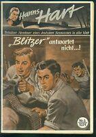 Hanns Hart Nr.6 von 1951 - TOP Z1 Seltene ORIGINAL ABENTEUER ROMANHEFT-RARITÄT
