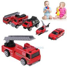 5pcs 1:64 Scale Alloy Fire Fighting Truck Car Models Kids Children Toy Vehicles