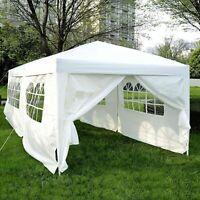 10x20ft Pop Up Canopy Tent Patio Gazebo Wedding Party Shelter w/ 6 Sidewalls