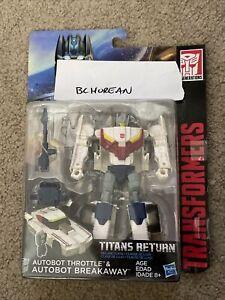 Transformers Titans Return Autobot Breakaway + Headmaster Throttle deluxe class