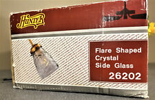 Vintage Fan Hand cut Hunter Flare Shaped Crystal Side Glass 26202 Set of 4