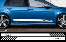 2 X BANDES BLANC POUR VW GOLF GTI 180cmX8,5cm AUTOCOLLANT STICKER AUTO BD566