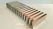 10 Huge Neodymium Block Magnet. Super Strong Rare Earth N52  3 x 1-1/8  x 1/4