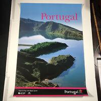 "Portugal Expo '98 VTG Poster 38.5""x 26.5"" Portugal Themed Art Glossy Abreu"